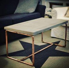 Beton Couch Tisch Kupfer Design Vintage Tisch in Berlin - Neukölln | Couchtisch gebraucht kaufen | eBay Kleinanzeigen