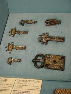 More medieval belt buckles from the Musée National du Moyen Âge in Paris, France.