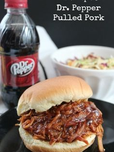 """My husband and sons have a """"thing"""" for barbecue sauce. It's a more common condiment in our house than ketchup! They all love when I can find new slow cooker BBQ pork recipes and this one is just so simple! Actually – the whole purpose of using my crockpot is for the simplicity! I just …"""