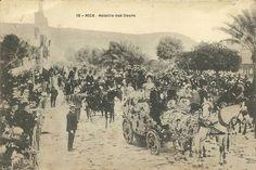 """La """"Battaglia dei Fiori"""" di Nizza in una cartolina d'epoca"""