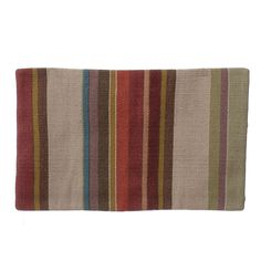 "Pottery Barn Canton Striped Kilim Wool Blend Lumbar Pillow Cover 16"" x 26"" India…"