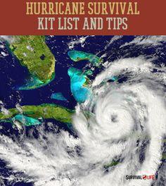 Emergency Hurricane Survival Kit List & Preparedness Tips  | Survival Prepping Ideas, Survival Gear, Skills & Emergency Preparedness Tips - Survival Life Blog: survivallife.com #survivallife