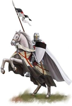 Latin: Pauperes commilitones Christi Templique Salomonici), commonly known as the Knights Templar, the Order of the Temple (French: Ordre du Temple or Templiers) or simply as Templars. Medieval Knight, Medieval Fantasy, English Knights, Knight On Horse, Knight Tattoo, Crusader Knight, Chivalry, Knights Templar, Horse Art