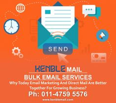 Kenble Mail is in front of you who are Email Marketing Service Provider and also offers Mass Mailing Service, Bulk Email Service, Email Marketing Services, Email Marketing Solutions and Mail Service.