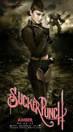 Character poster for Zack Snyder's Sucker Punch, featuring Jamie Chung as Amber. Sucker Punch, Jamie Chung, Diesel Punk, Mode Steampunk, Steampunk Fashion, Asian Steampunk, Cyberpunk, Guerrero Ninja, Pin Up