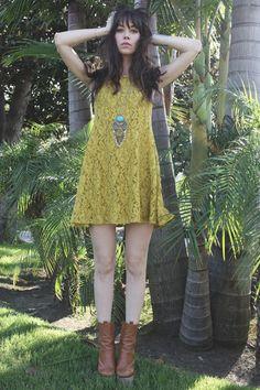 Chloe Sevigny x Opening Ceremony boots, Free People dress