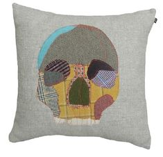 Skull cushion by Carola van Dyke