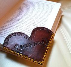Personalized Leather Bookmark www.clickincowgirls.com