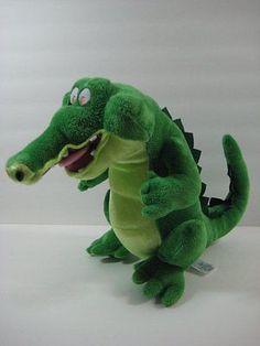 "TICK TOCK Crocodile Peter Pan 12"" Plush Stuffed Toy Disney Store B264"