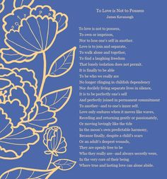"""""""To Love is Not to Possess"""" I really like this poem as a reading for the ceremony..."""