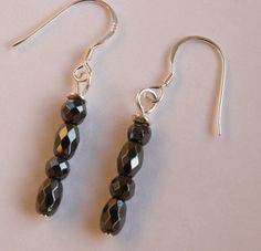 Haematite Sterling Silver Earrings