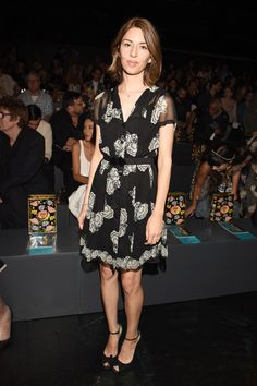 Director Sofia Coppola (3rd from left), model Michele Hicks (4th from left) attend Anna Sui Spring 2016 during New York Fashion Week: The Shows at The Arc, Skylight at Moynihan Station on September 16, 2015 in New York City.