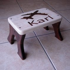 Airplane Personalized Step Stool by LaffyDaffy @ Etsy.com