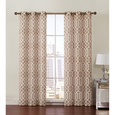 Vcny Aaron Grommet Top 84-inch Curtain Panel Pair