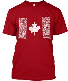 The roster has been announced! Pick up this shirt as the boys from Canada head to Sochi.    If you're interested, here's the Team USA version of the shirt!    IMPORTANT NOTE: If the roster somehow changes, not to worry, names will be swapped at the time of printing.