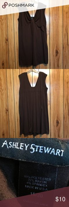 Woman's Fashion Dress Fashionable Dress, Has a pretty deep brown color. Size 18/20. Can hold static cling if dryer sheets aren't used when drying Dress and has a few fabric picky spots. Hardly noticeable. Otherwise in great condition. Ashley Stewart Dresses