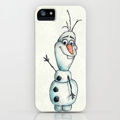 Olaf (Frozen) iPhone & iPod Case by STATE OF GRACCE - $35.00 | http://society6.com/stateofgracce23/Olaf-Frozen_iPhone-Case