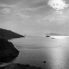 Ηλιοβασίλεμα από τα Κανόνια. Ύδρα, 1951 Νικόλαος Τομπάζης River, Beach, Outdoor, Outdoors, The Beach, Beaches, Outdoor Games, The Great Outdoors, Rivers