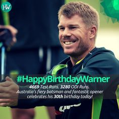 #HappyBirthdayWarner, Australia's run-machine! #AUS #cricket
