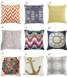 throw pillows.