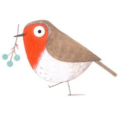 Red robin bird illustration watercolor painting New Ideas Vogel Illustration, Cute Illustration, Robin Vogel, Red Robin Bird, Illustration Inspiration, Bird Drawings, Christmas Illustration, Little Birds, Bird Art