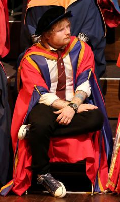 Although he of course Ed Sheeran'd up his look. | So, Ed Sheeran's A Doctor Now