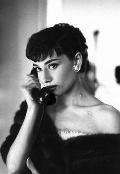 Bob Willoughby, Audrey Hepburn on the telephone, Paramount Studios, 1953