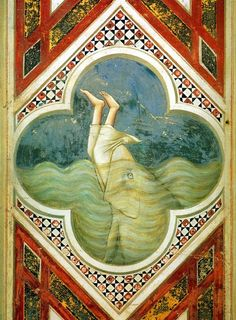 Giotto, Jonah swallowed by the whale, 1304-06, Fresco, Cappella Scrovegni (Arena Chapel), Padua