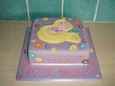Rapunzel cake for Lilianna's birthday Rapunzel Birthday Party, 4th Birthday Cakes, Tangled Party, 4th Birthday Parties, Girl Birthday, Birthday Ideas, Num Nom Cake, Rapunzel Cake, Disney Cakes