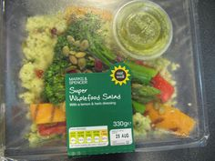 M&S Superfood Salad @ 315 calories Low Calorie Salad, Whole Food Recipes, Healthy Recipes, Superfood Salad, Lemon Herb, Salad Bowls, Food Inspiration, Packaging