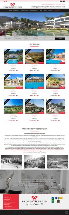 Propertiespain is the specialist for real estate in Benahavis, covering both the village itself and the attractive residential areas that fall within this large municipality. Real Estate Software, Website, Fall, Design, Autumn, Fall Season, Design Comics