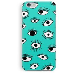 iPhone 6S Cover, iPhone 6S Case, Eye Pattern iPhone 6S case, Eye... ($15) ❤ liked on Polyvore featuring accessories and tech accessories