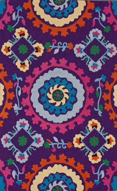 Fergana Soraya Purple Rug | Contemporary Rugs #RugsUSA