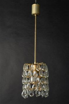 Køb loftslamper, pendler - PH, Arne Jacobsen, Panton - Krystallysekrone, loftslampe med krystalglas, Palwa, 1970'erne - DE, Köln, Kunst- und Auktionshaus Herr