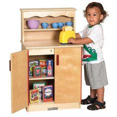 ECR4Kids Birch Play Kitchen - Cupboard