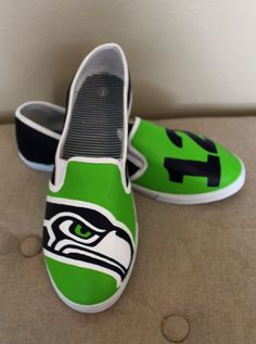 Seahawks Shoes For Baby/Toddler by SmashParties on Etsy