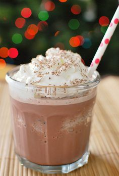 "Frozen Hot Chocolate ""- SO EASY!! If you have hot chocolate mix and some milk, you can make this!!""  