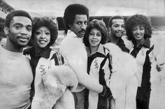 West Bromwich meets Philadelphia: Albion's 'Three Degrees' Laurie Cunningham, Brendon Batson and Cyrille Regis team up with the real Three Degrees