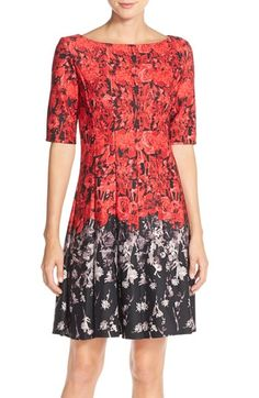 Gabby Skye Scuba Fit & Flare Dress available at #Nordstrom