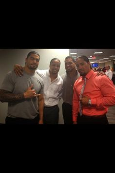 roman reigns  | Roman reigns with cousins the Usos and Donny Marlow aka CamachoPhoto ...