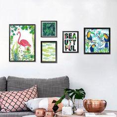 Bird Flower Posters And Prints Rainforest Flamingo Nordic Poster Wall Picture Canvas Art Wall Pictures For Living Room Unframed #walldecor #interiordesigner #homedecor #wallartprints #artdecor #artprint #canvasphotoprints #wallartdecor #wallpainting