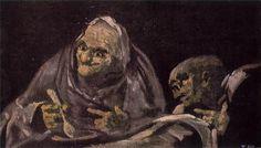 """Goya - """"Old Men Eating"""" 1820-23"""