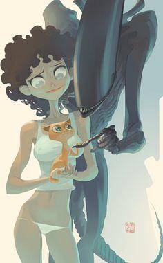 Ripley by Otto Schmidt ✤ || CHARACTER DESIGN REFERENCES | キャラクターデザイン | çizgi film • Find more at https://www.facebook.com/CharacterDesignReferences & http://www.pinterest.com/characterdesigh if you're looking for: #grinisti #komiks #banda #desenhada #komik #nakakatawa #dessin #anime #komisch #manga #bande #dessinee #BD #historieta #sketch #strip #fumetto #settei #fumetti #manhwa #koominen #cartoni #animati #comic #komikus #komikss #cartoon || ✤