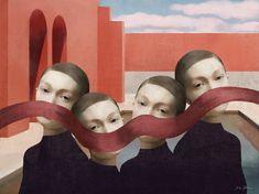 Daria Petrilli, My Other Half, Surrealism Painting, Italian Artist, Unique Art, Savage, Illustrators, Bookends, Illustration Art