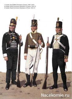 Fuciliere della milizia reale di Lisbona, fuciliere volontario di Lisbona e fuciliere volontario di Porto