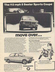 BMW 2002 - Vintage Car Ads