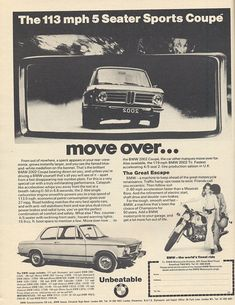 BMW 2002 - Vintage Car Ads