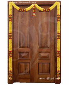 Handmade Cloth flowers , fresh and beautiful from Thugil Door Hanging Decorations, Home Wedding Decorations, Diwali Decorations, Flower Decorations, Home Flower Decor, Pooja Room Design, Pooja Rooms, Cloth Flowers, Diy Garland