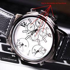 ufengke® elegantes dreifachwerk armband kalender kalender handgelenk armbanduhren für männer,weiß - http://uhr.haus/ufengke-sports/ufengke-elegant-feines-dreifachbewegung-band-2