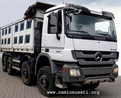 Mercedes-Benz 41.41 k 8×4 ( 2012) mezzo d'opera ribaltabile trilaterale Minerva | Camionusati web portal